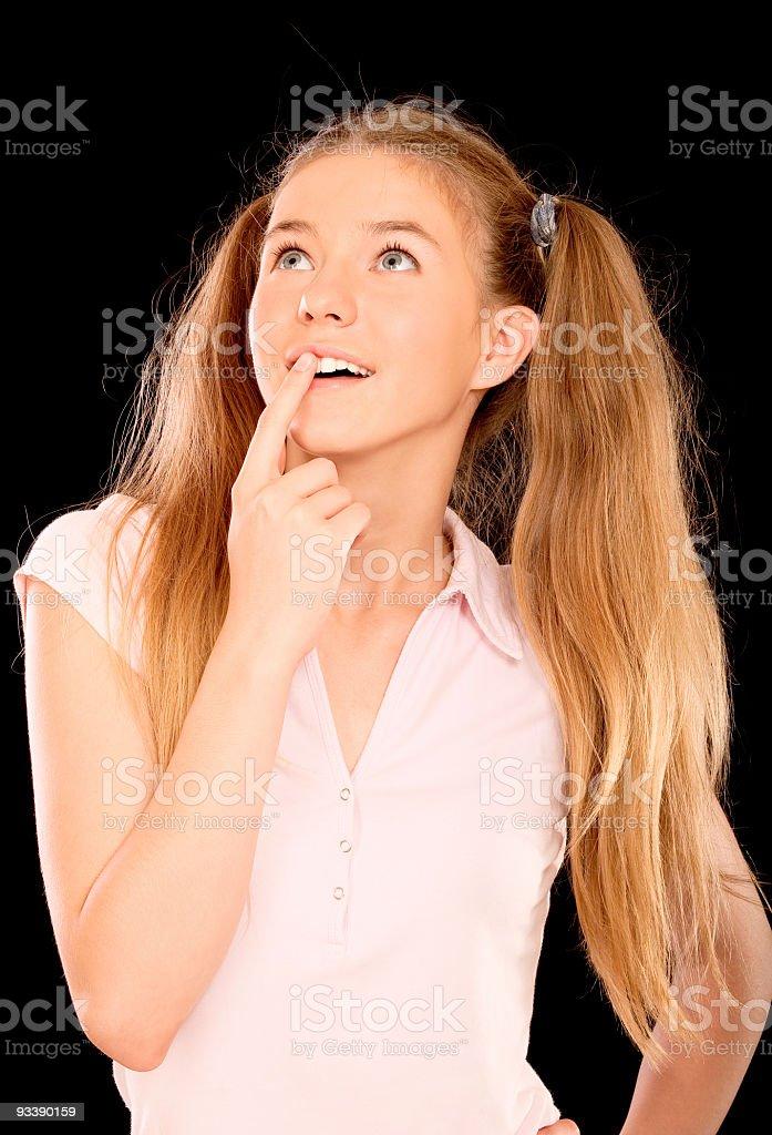 Portrait of  beautiful schoolgirl royalty-free stock photo