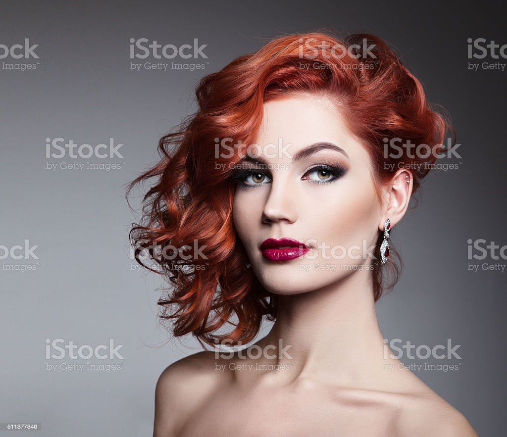 Portrait of beautiful sexy girl stock photo