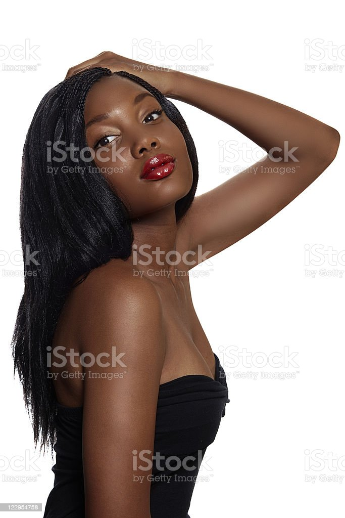 portrait of beautiful South African young woman stock photo