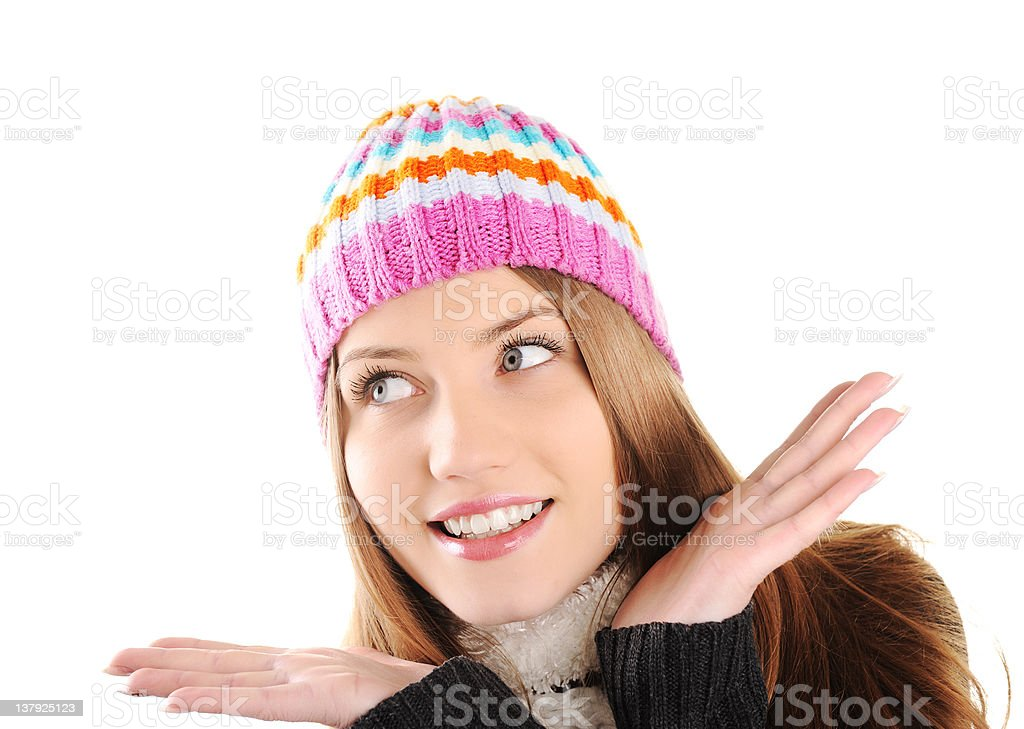 Portrait of beautiful teenage girl, winter clothes royalty-free stock photo