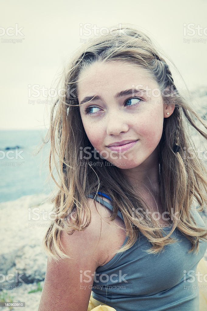Portrait of beautiful teenager. royalty-free stock photo