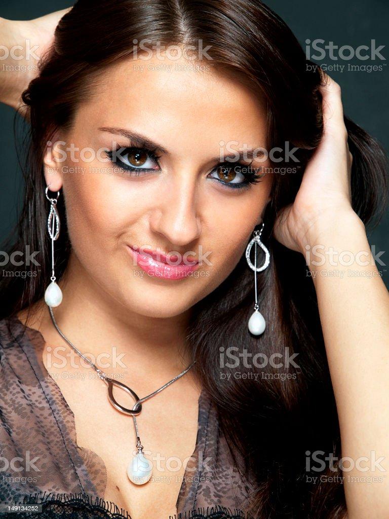Portrait of beautiful woman. stock photo
