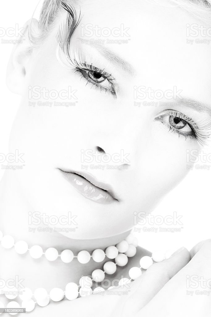 BW portrait of beautiful woman royalty-free stock photo