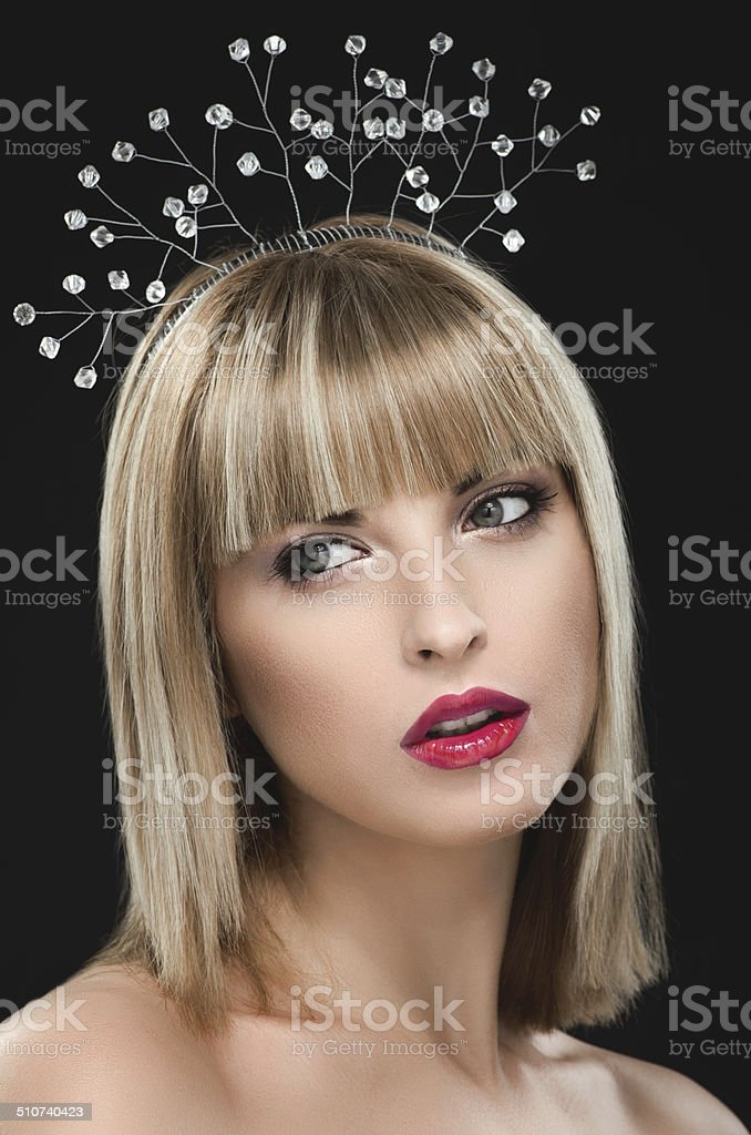 Portrait of beautiful woman royalty-free stock photo