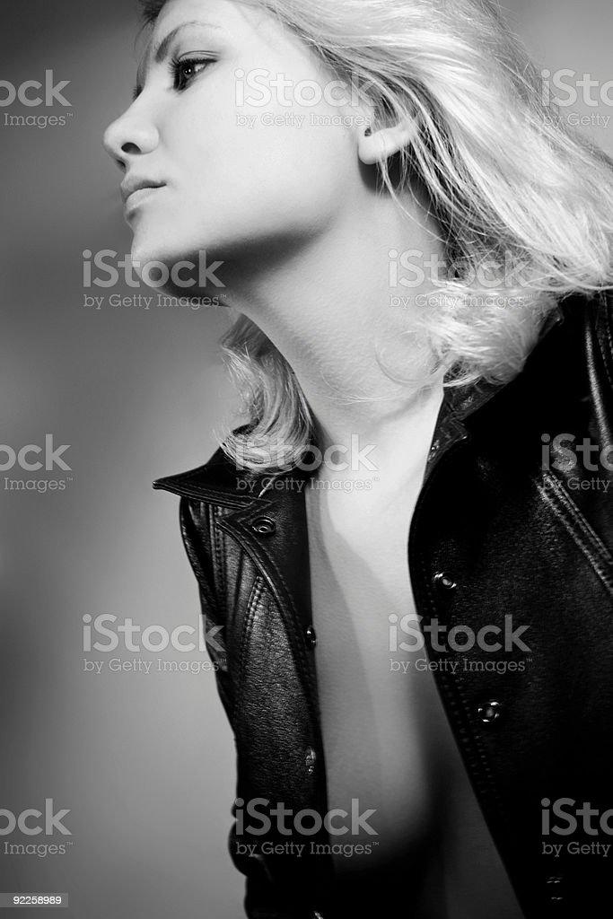 Portrait of beautiful woman royalty-free stock photo