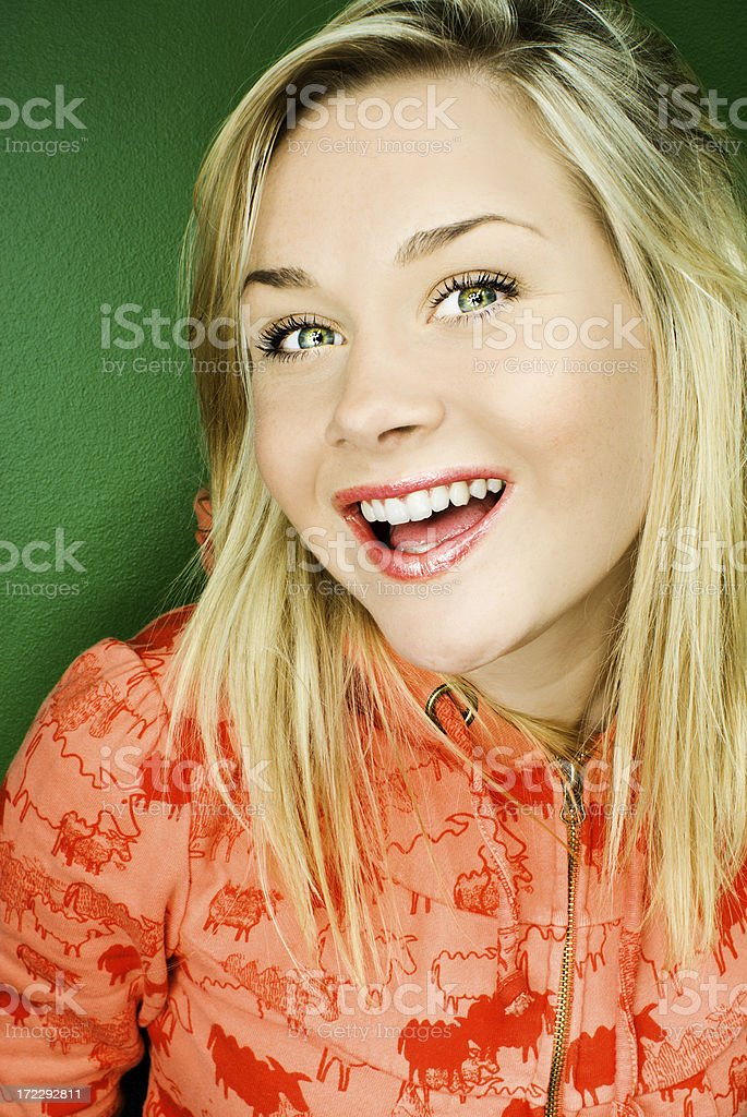 portrait of beautiful woman smiling royalty-free stock photo