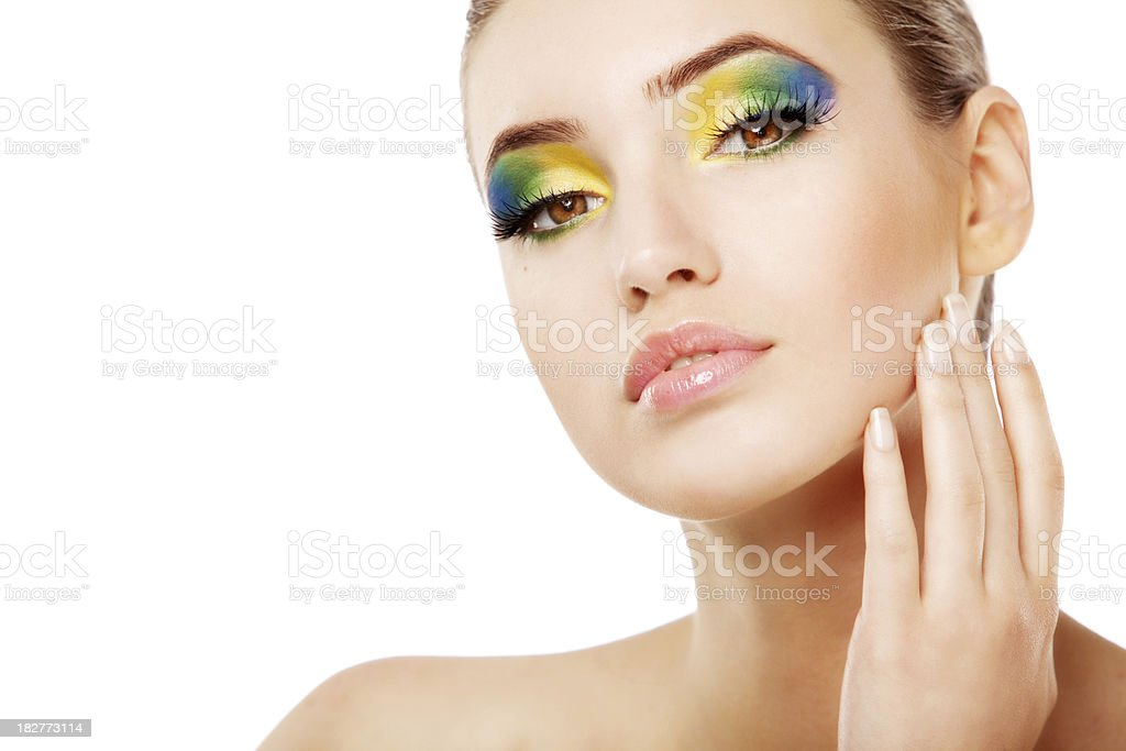 Portrait of beautiful woman with makeup royalty-free stock photo
