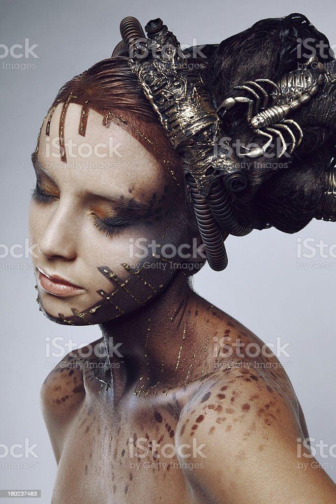 Portrait of beautiful women. stock photo