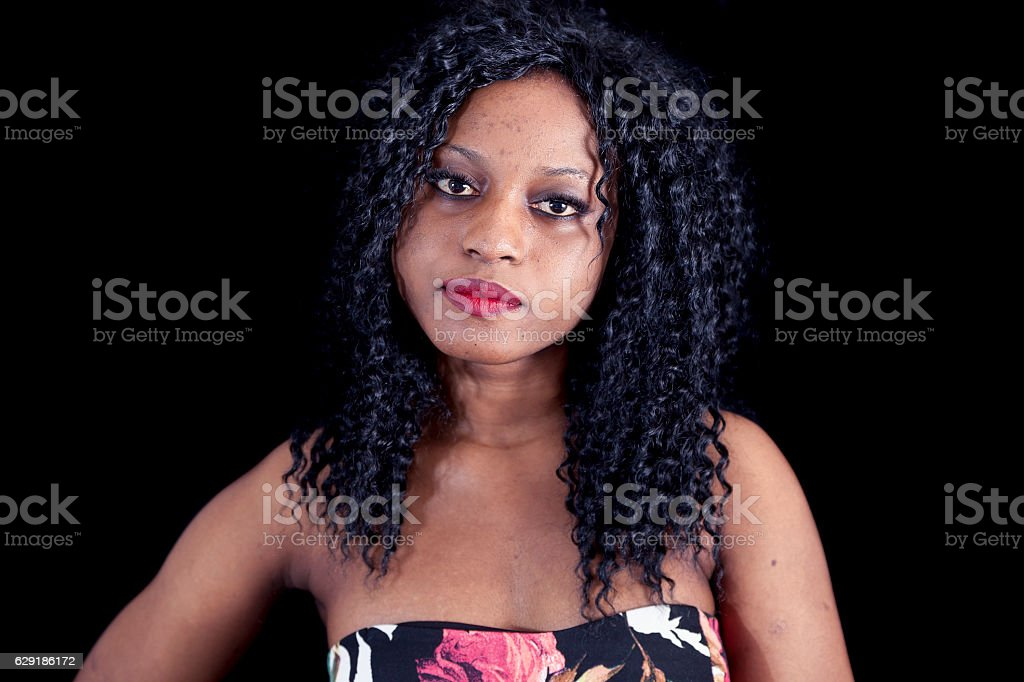 portrait of beautiful young african american stock photo