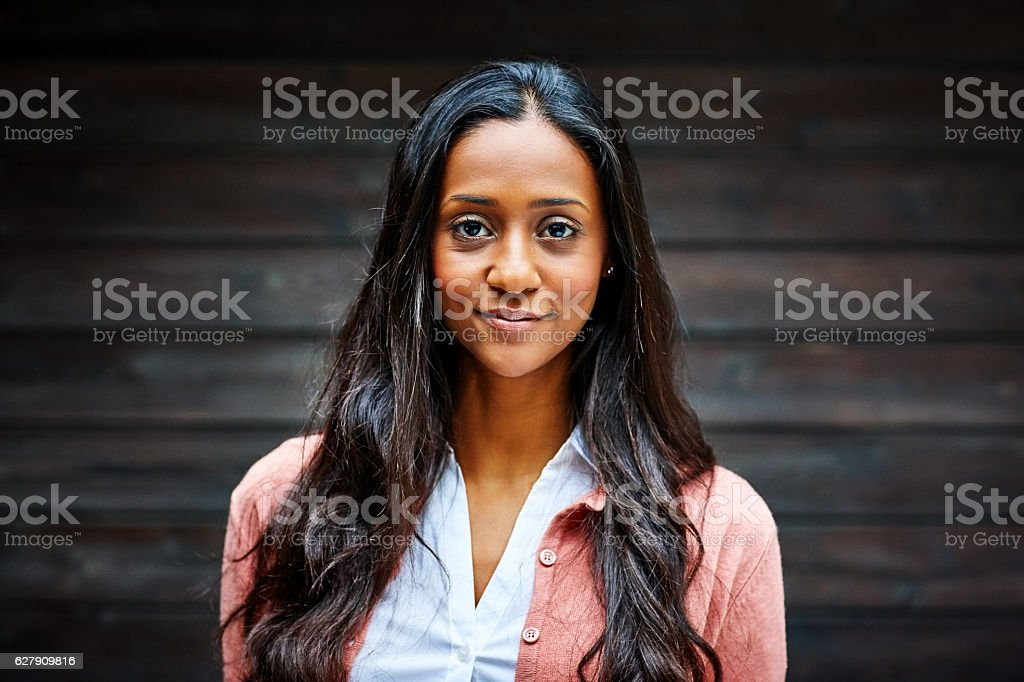 Portrait of beautiful young businesswoman stock photo