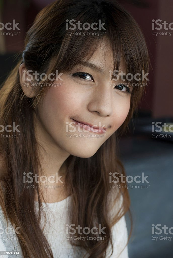 Portrait of beautiful young royalty-free stock photo