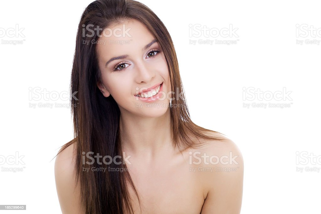 Portrait of beautiful young smiling girl. royalty-free stock photo