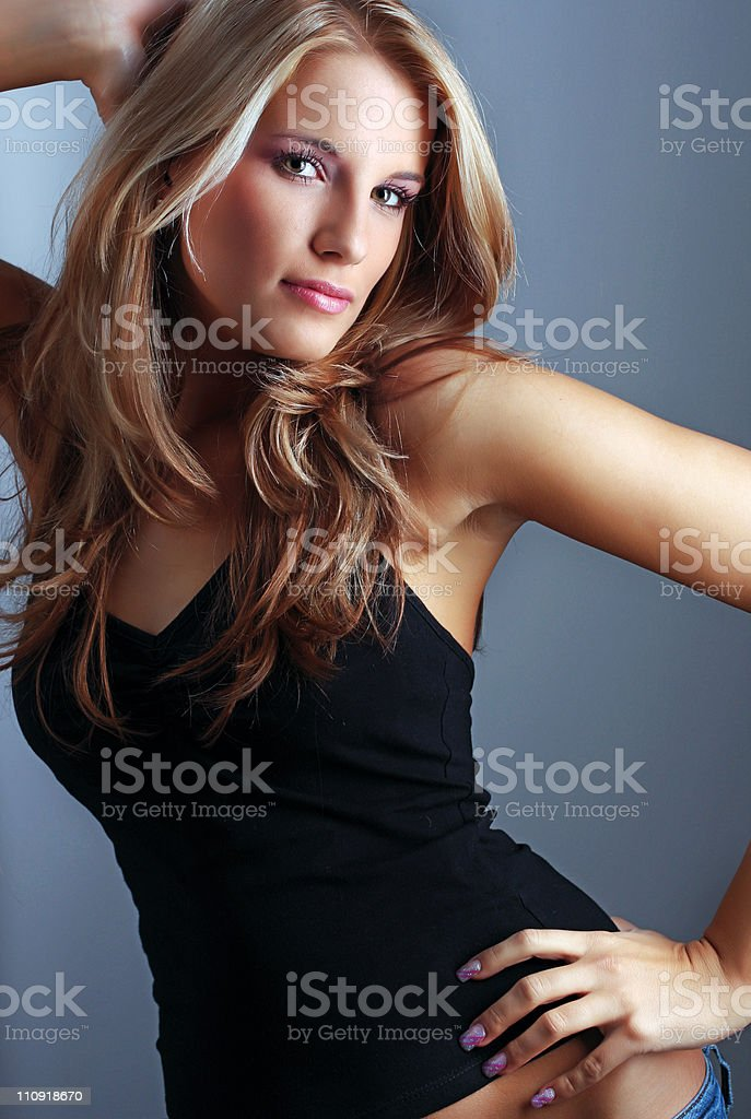Portrait of beautiful young woman royalty-free stock photo