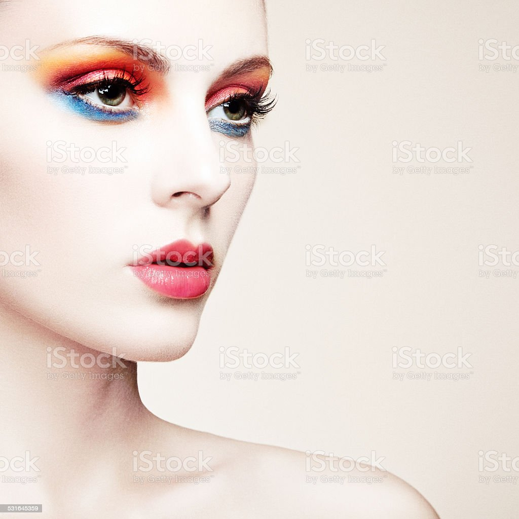 Portrait of beautiful young woman. stock photo