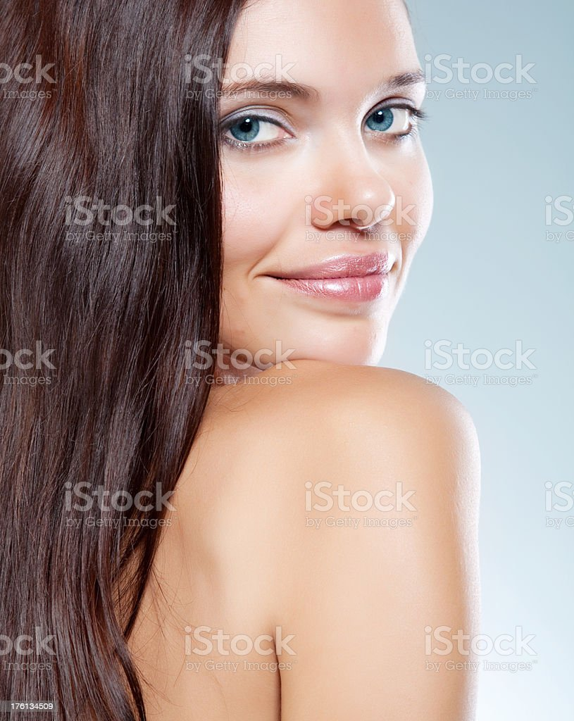 portrait of beautiful young woman with luxuriant healthy long hair royalty-free stock photo