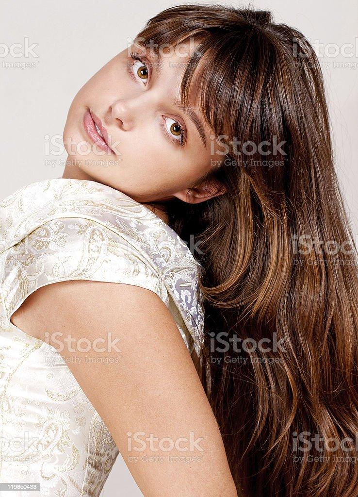 Retrato de belleza brunette foto de stock libre de derechos