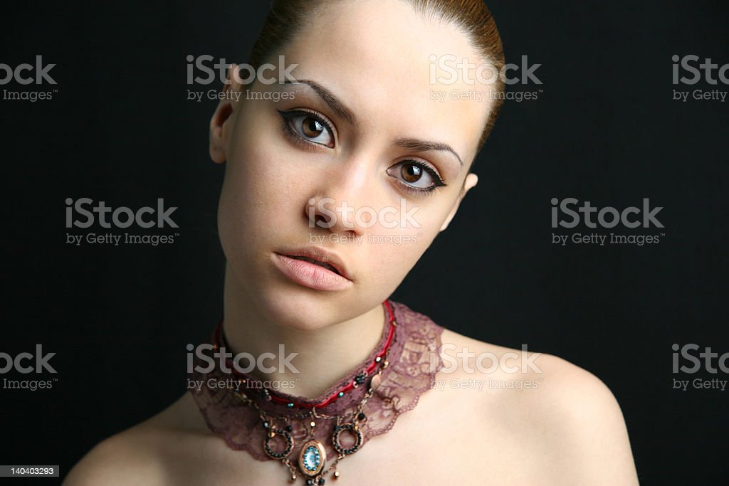 Portrait of beauty girl. royalty-free stock photo