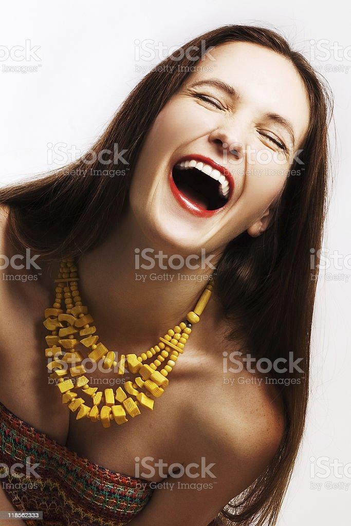 Retrato de mujer feliz de belleza foto de stock libre de derechos