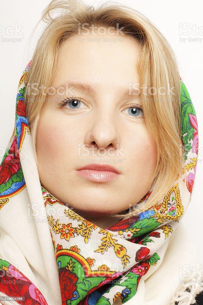 Retrato de mujer belleza ruso foto de stock libre de derechos