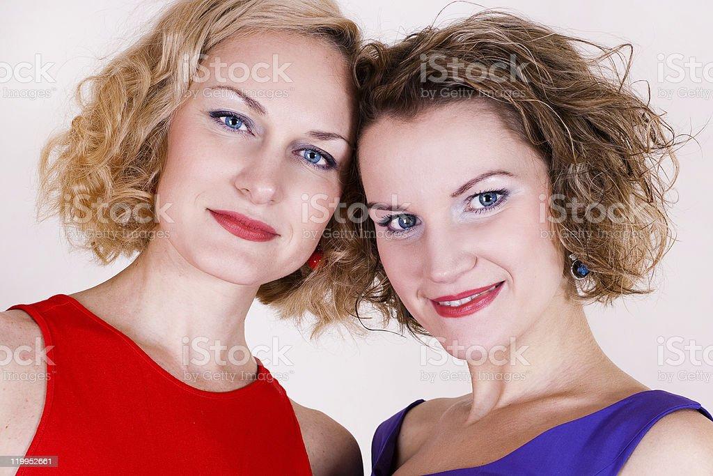 Retrato de belleza sisters foto de stock libre de derechos
