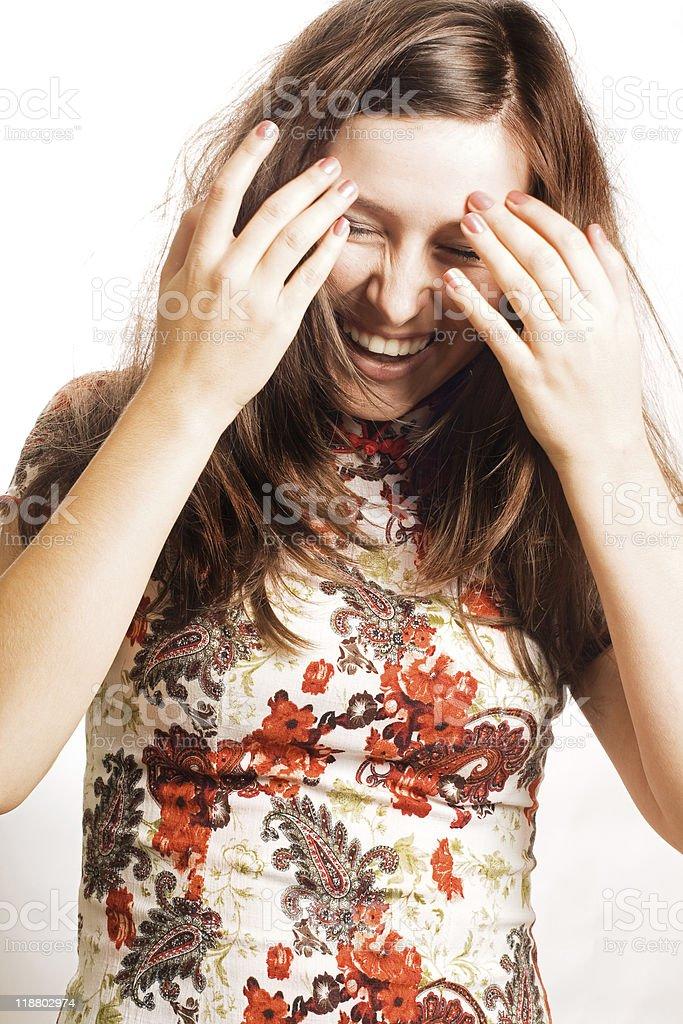 Retrato de belleza Mujer sonriendo foto de stock libre de derechos