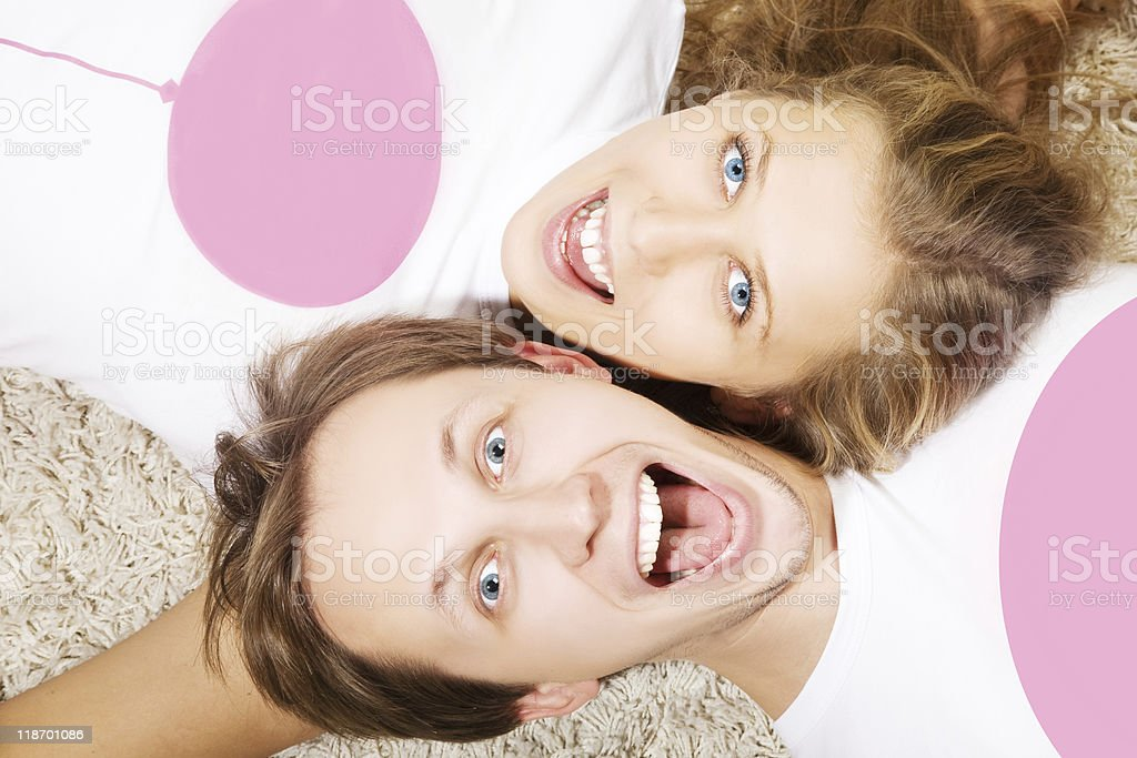 Retrato de pareja joven belleza foto de stock libre de derechos