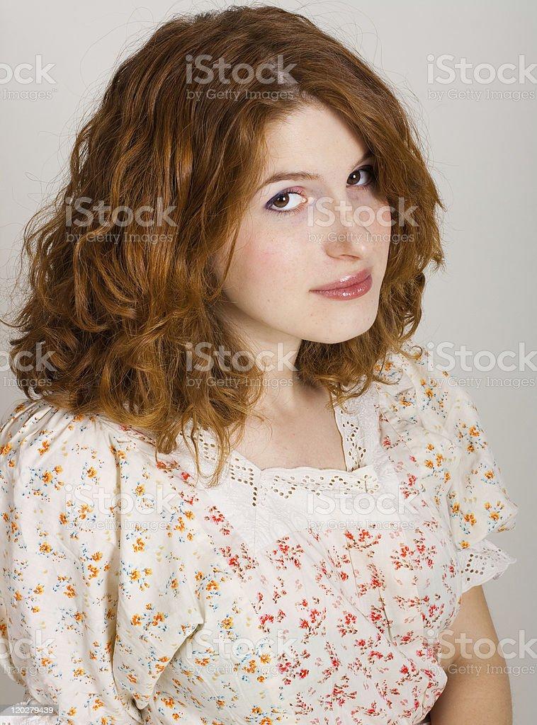 Retrato de mujer joven belleza foto de stock libre de derechos