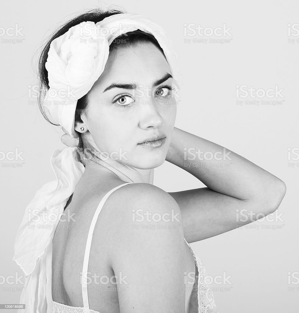 portrait of beauty young woman stock photo