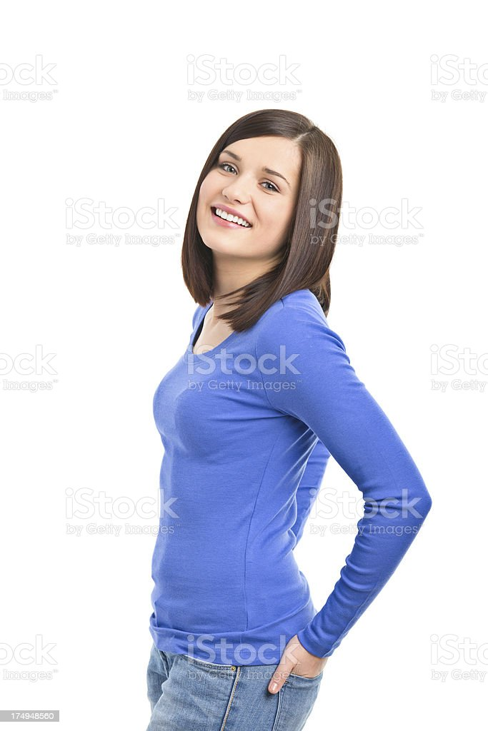 portrait of beauty young woman royalty-free stock photo