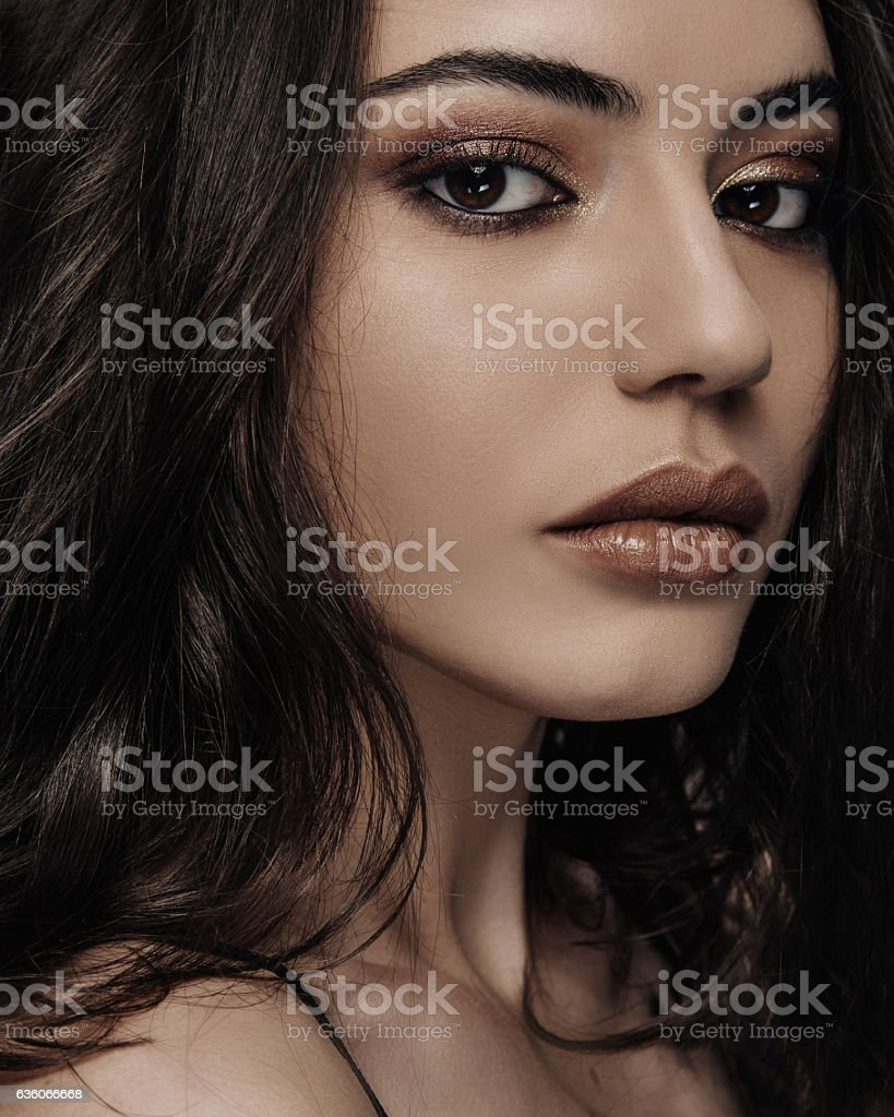 Portrait of beautyful young woman. stock photo