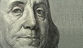 Portrait of Benjamin Franklin with copyspase