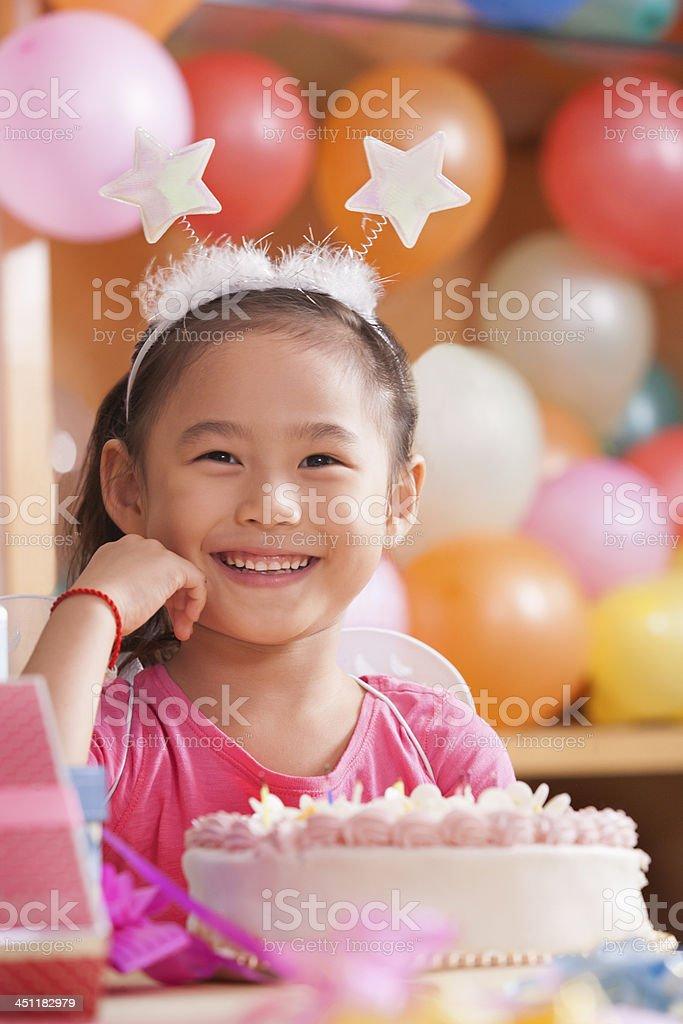 Portrait of Birthday Girl stock photo