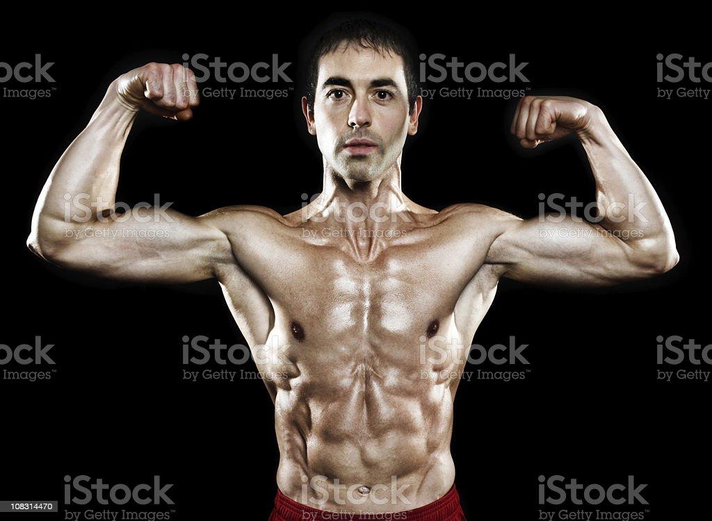 portrait of bodybuilder stock photo