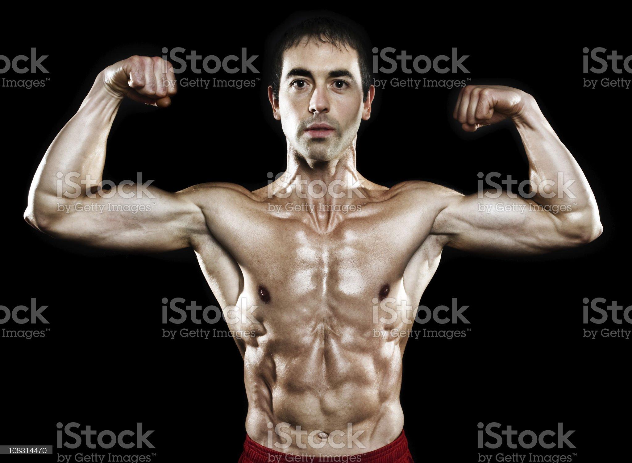 portrait of bodybuilder royalty-free stock photo