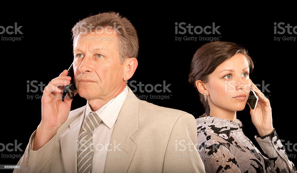 Portrait of boss and secretary royalty-free stock photo