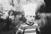 Portrait of boy in crown