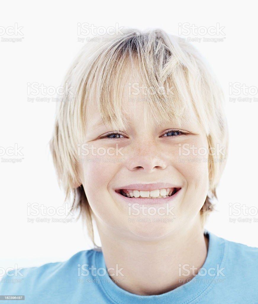 Portrait of boy smiling royalty-free stock photo