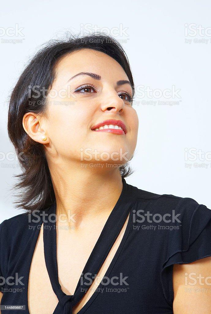 portrait of brunette stock photo