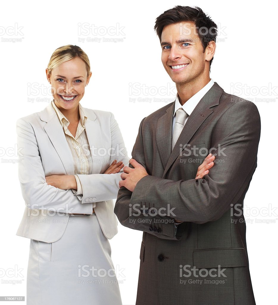 Portrait of business colleagues with arms crossed royalty-free stock photo