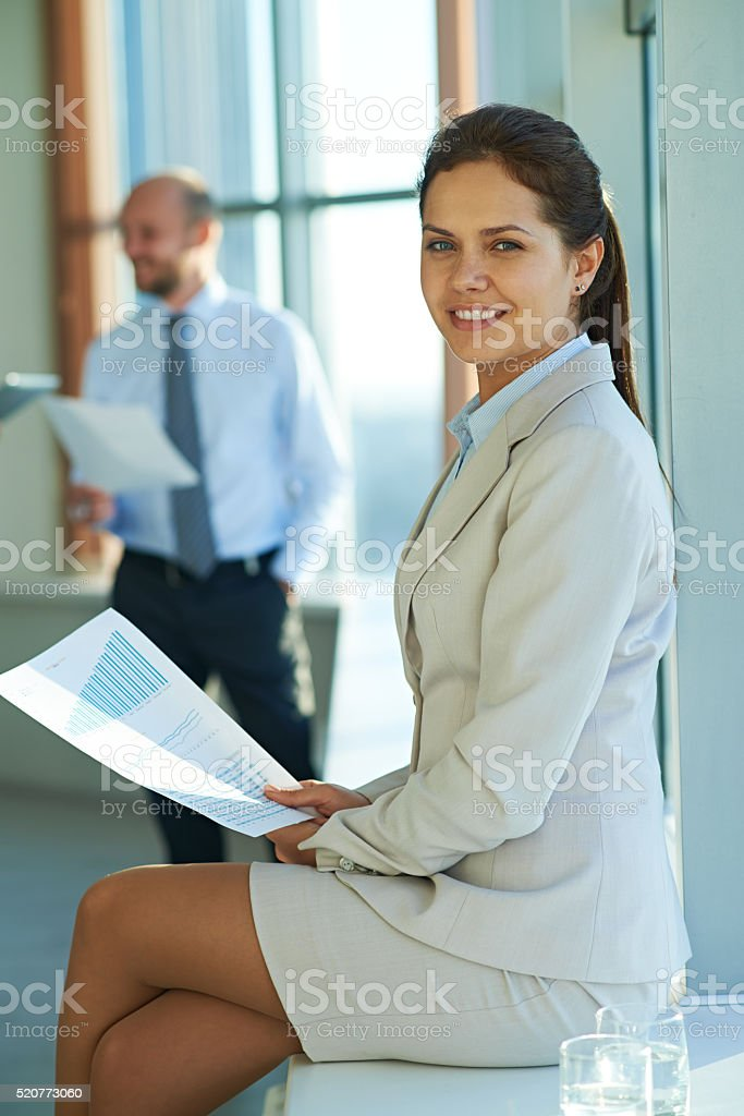 Portrait of business lady stock photo
