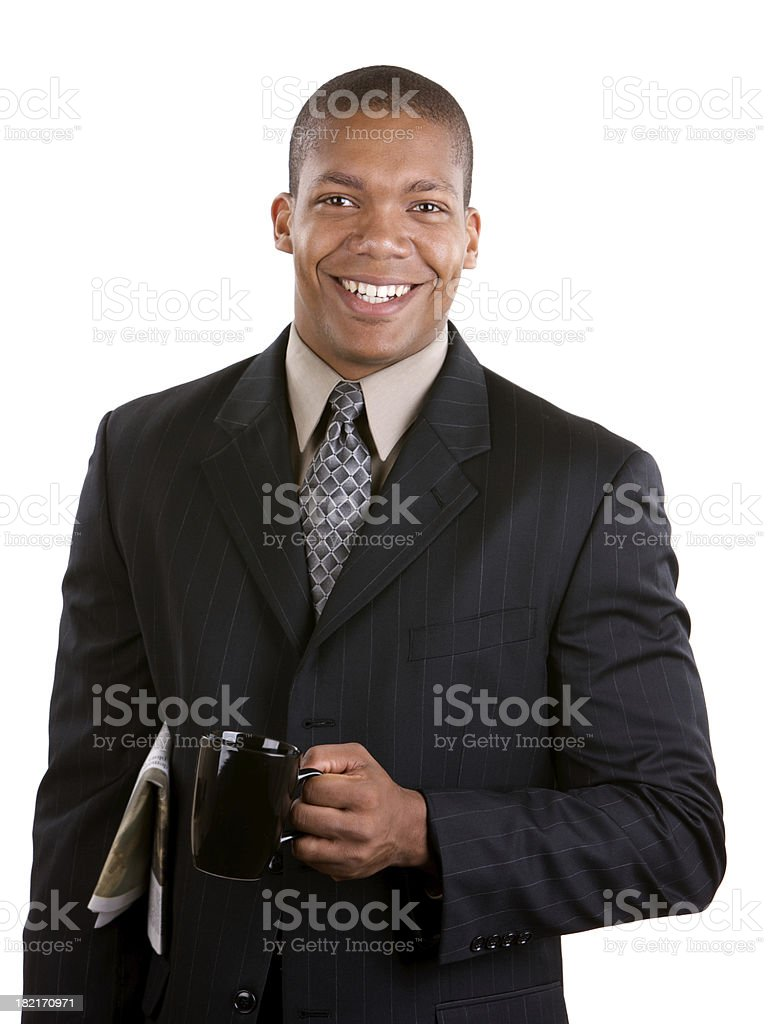 Portrait of business man smiling at camera royalty-free stock photo