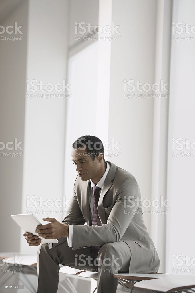 Portrait of Business Man With Tablet royalty-free stock photo