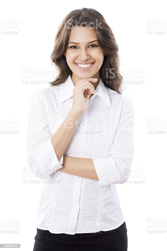 Portrait of business woman stock photo