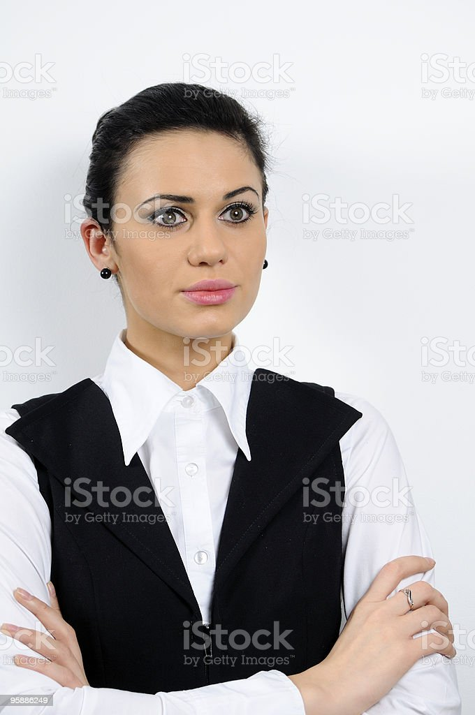 portrait of business woman stock photo