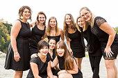 Portrait of business women team