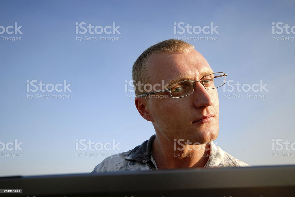 portrait of  businessman in glasses royalty-free stock photo