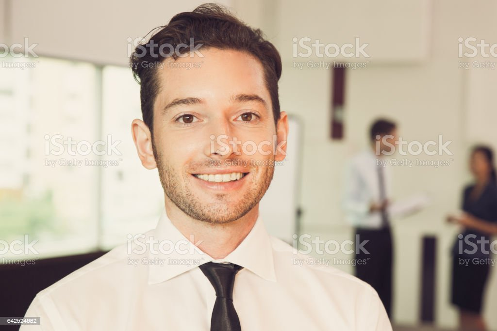 Portrait of Businessman in Office 2 stock photo