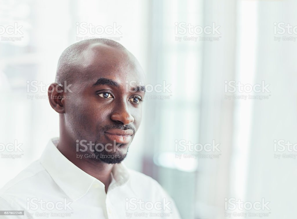 Portrait of businessman in office stock photo