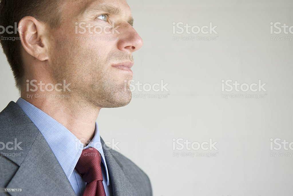 Portrait of Businessman Looking with Confidence to Future royalty-free stock photo