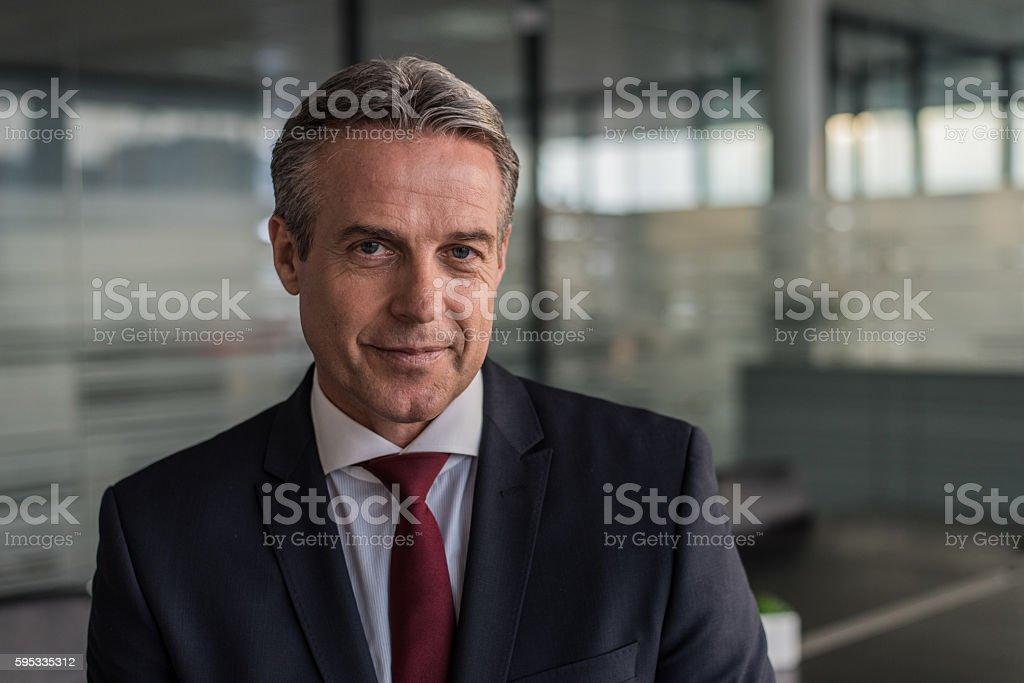 Portrait of businessman stock photo